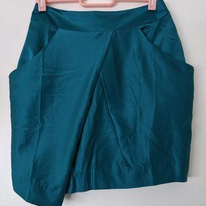 NEW Traffic People teal silky tulip skirt